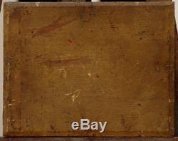 1847 Painting On Wood Cottage Signed Wery Barbizon School