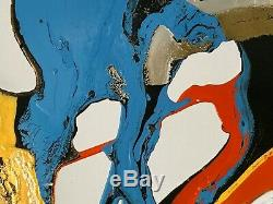 1900 Abstract Painting Melyna Dali-free Form Psychedelique Jackson Pollock