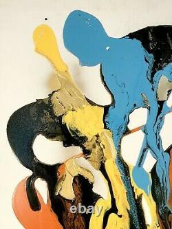 1900 Melyna Dali Peinture Peinture Forme-free Psychedelic Jackson Pollock