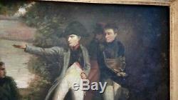 19th Empire Painting / Napoleon Bonaparte Battle Of Essling Austria