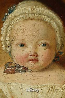 A Beautiful Baby! 1780, Superb Little Portrait Of Child Louis XVI
