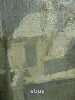 A. Girard Village Under Snow Oil Painting On Wood January 1926