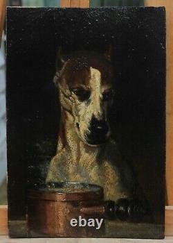 A Gourmet End! Louis Godefroy Jadin (1805-1882), Dog, 1855, Mastiff, Kitchen