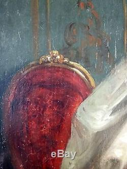 Adèle D'affry (switzerland, 1836-1879) Attribution Old Painting Oil Painting