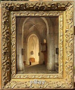 Adrianus Nieuwenhuyzen, Table, Church, Interior, Landscape, Holland, Netherlands