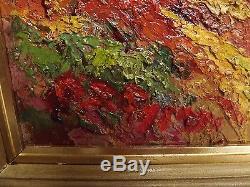 Agay Red Rocks Esterel Seaside. Oil / Wood Signed. Table 72x61 CM