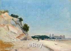Albert Balmier Oil Painting Landscape MIDI Provence Villeneuve Les Lez Avignon