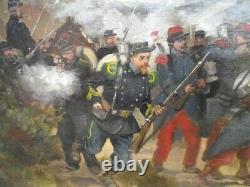 Albert Bligny-war Of 1870-pair Of Oils On Panels Of Mahogany-militaria