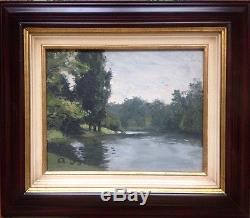 Albert Brun 1887-c. 1950. Landscape. Oil On Wood. Monogrammed At The Bottom Left. 19x24