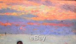 Alphonse Chigot, Landscape, Sea, Painting, Impressionism Painting, Military