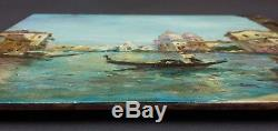 Ancient Grand Canal Painting In Venice Oil Painting Antique Oil Painting