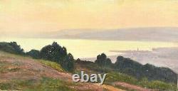 Ancient Martigues Seascape Painting By William Didier-pouget (1864-1959)