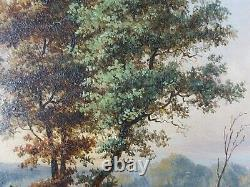 Ancient Painting Animated Landscape Antique Painting Oil Painting Ölgemälde Dipinto