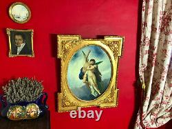 Ancient Painting Depicting A Mythological Scene With Its Beautiful Gilded Frame