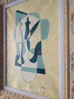 André-poujet (1919-1996) Rare Table Hst Oil 1944 Braque Picasso 76 Years Failed