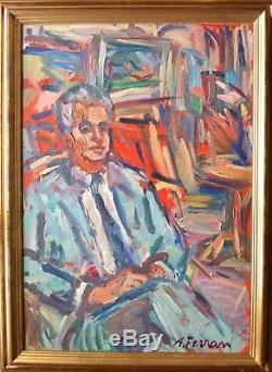 Antoine Ferrari. Portrait Of Fr. Diana. Beautiful And Big Picture. Marseille. Peano