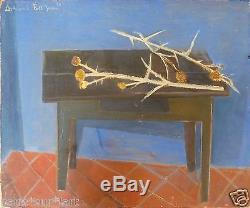 Armand Petitjean (1909-2004) Hsp 1950 Chardons Young Painting Ne Ecole De Paris