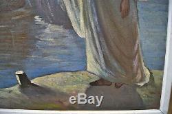 Armenag Missirian Armiss 1901-1977 Christ In Lake Genesareth Frame 78 X 63 CM