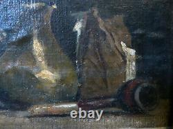 Author To Be Identified, Still Life With A Pipe, Hst Marbled On Wood, 19th
