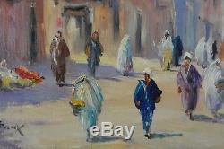 B. Retaux Sublime Ancient Orientalist Paint Oil On Panel Marrakech