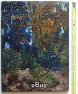 Beautiful Impressionist 1900. Powerful Forest Landscape.