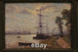 Beautiful Impressionist Marine, Charles Malfroy (1862-1918)
