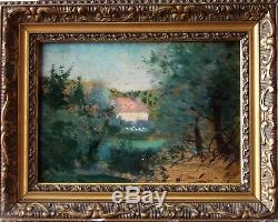 Beautiful Landscape & Impressionniste Nineteenth Red Roof. Camille Pissarro & Paul Cezanne