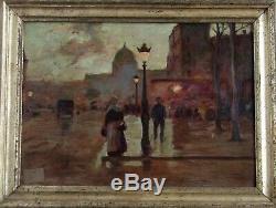 Beautiful Night Animated Paris Impressionniste Nineteenth. Luigi Loir 1845-1916