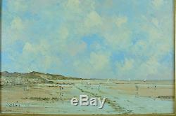 Beautiful Old Painting Landscape Marine Animated Pierre Stéfani Sv Boudin Hardelot North