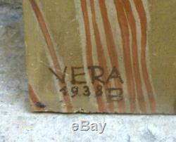 Beautiful Orientalist Portrait Of 1938 Signed Vera Braun 1902-1997 Hungary