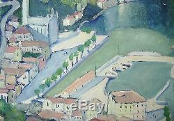 Beautiful Painting Of Pillot Lake Como Argegno Italy