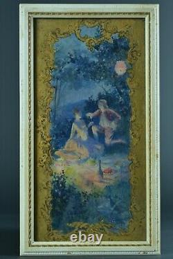 Beautiful Painting Rochegrosse Portrait Dinner Couple Champagne Romantic At Night 19th