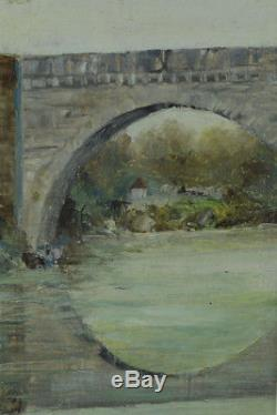 Beautiful Table Basque Country Bridge Orthez Landscape River Maurice Martin 1952