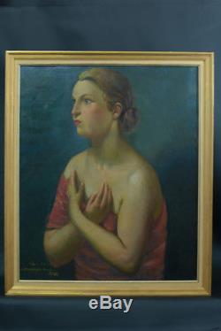 Beautiful Table Old Hsp Alois Bilek Czech Portrait Young Woman Gallery La Boetie