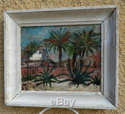 Bel Orientalist 1950. Algeria & Tunisia Of Painters. Landscape Animated. Sign