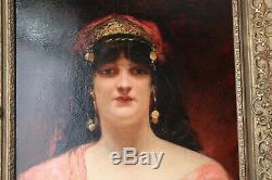 Benjamin Constant (orientalist) Oil On Mahogany Panel
