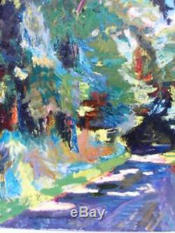 Berthomme St-andre Way In Undergrowth Very Large Oil On Canvas -1950