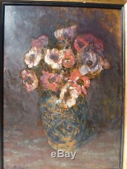 Bouquet Of Anemones In Chinese Vase By Horace Richebé (1871 1964)