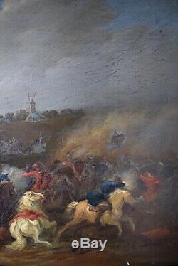 Breydel Karel Carel Said Knight Rider Battle Scene Signed XVII XVIII