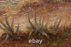 Carl Rudolf S. Huber Austrian Orientalist Painting As Seen Egypt Eastern Landscape