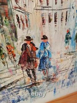 Caroline C. Burnett's Oil Painting On Wood Panel