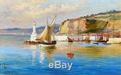 Cesare Ferri, Landscape, Sea, Nice, Port, Ship, Table, Navy, French Riviera