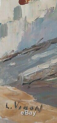 Chapelle Du Cap Corse Oil On Canvas Signed L. Vigon