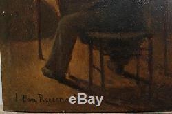 Character Of The Back, Nineteenth School Signed Regemorter