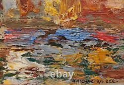 Charles Henri Dagnac River Painting Oil Landscape Port Les Martigues Provence