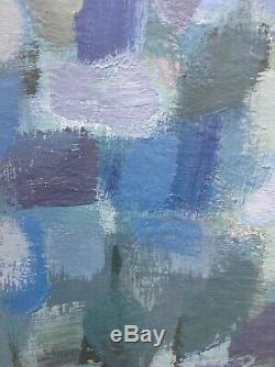 Charles Piquois Panel Oil 86cm Hsp 1965 Abstract Jacques Germain Lapoujade