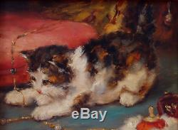 Charles Van Den Eycken, 1911, Benezit, Huge Cote! The Kitten And The Jewels