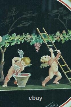 Charming Painting Ancient Putti Cherub Love Vintage Pompei A. Nappo M. Maestri
