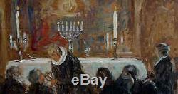 Communion Toward 1900 Grand & Beautiful Table Symbolist. Near Maurice Denis