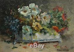 Coppenolle Late Nineteenth, Flowers In Planter Earthenware